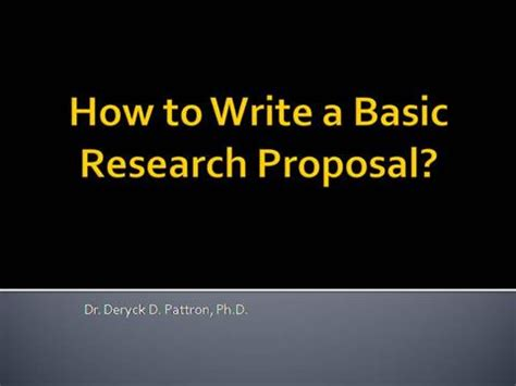 How to Write a Research Proposal Abstract Summary